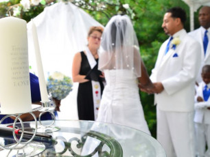 wedding officiant on site to marry you