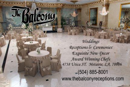 The Balcony View Slideshow WEDDING RECEPTIONS